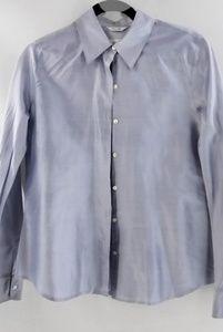 TALBOTS Pure Silk Career Button Down Shirt Sz 8